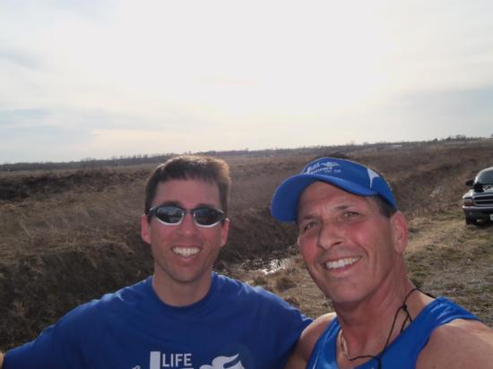 Bill and Kris Pauls and their son, Jeff, adopted several open legs near Kansas City so Missouri had 100% coverage.  Bill and Jeff ran so many miles, that it is the equivalent of a marathon for each of them.  Bill actually had just completed a marathon in Kentucky on March 9.  That was less than 1 week before the start of the Mid-MO portion of the relay.  Cheers to them for their commitment and passion for the cause of life.