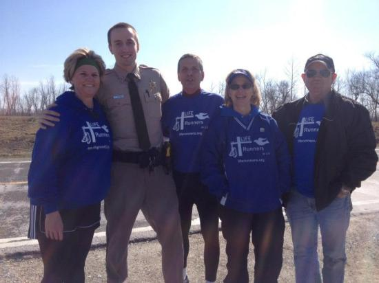 Howard County, MO Sheriff checked in on us as I was finishing a leg on day 2 of the 3 days our chapter covered.
